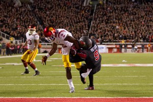 New Jack City · Freshman cornerback/wide receiver Adoree' Jackson had a breakout performance against Utah on Saturday night, with a 105-yard kickoff return touchdown and a crucial forced fumble. Jackson would have had another touchdown if not for questionable officiating during the fumble. - Courtesy of the Daily Utah Chronicle