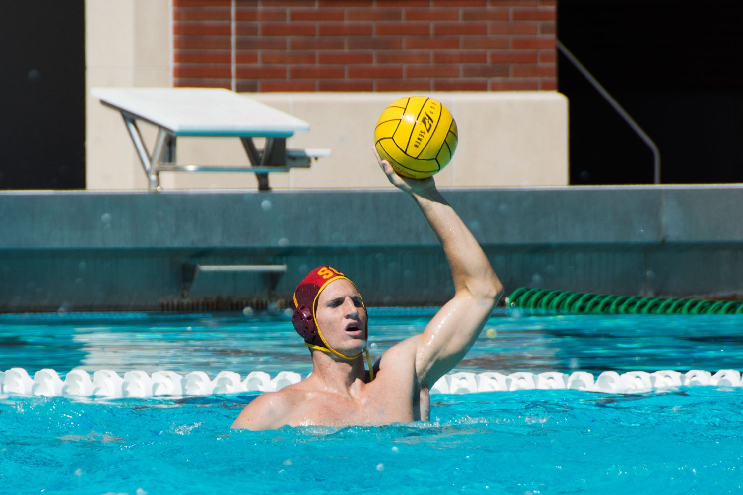 Swimming in success · Sophomore goalie McQuin Baron and the Trojans look to avenge last season's championship loss to the rival Bruins.  - Mariya Dondonyan  | Daily Trojan