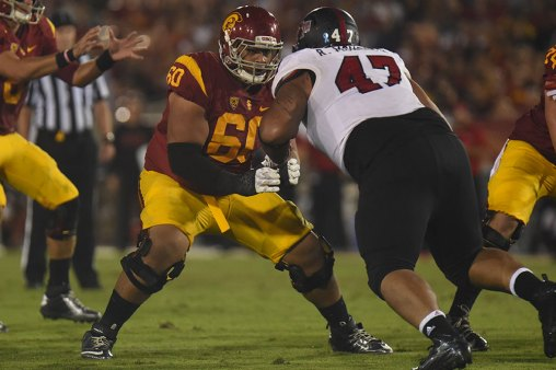 Photo courtesy of Sports Information History in the making · Junior offensive guard Viane Talamaivao and the football team have the chance to win their 18th straight opening game.