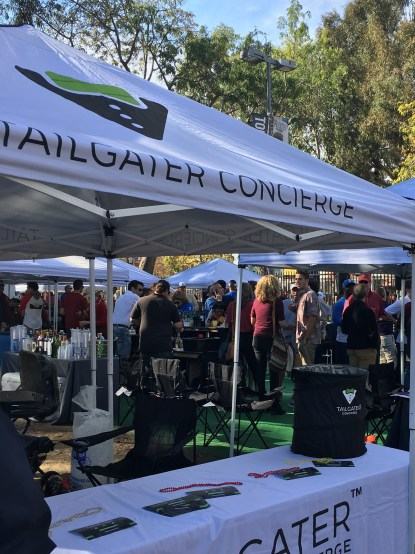 Photo courtesy of Jennifer LaGrow  Set up to turn up · Tailgater Concierge, a business started by a USC alumna, provides the tailgating equipment football fans need on game day.