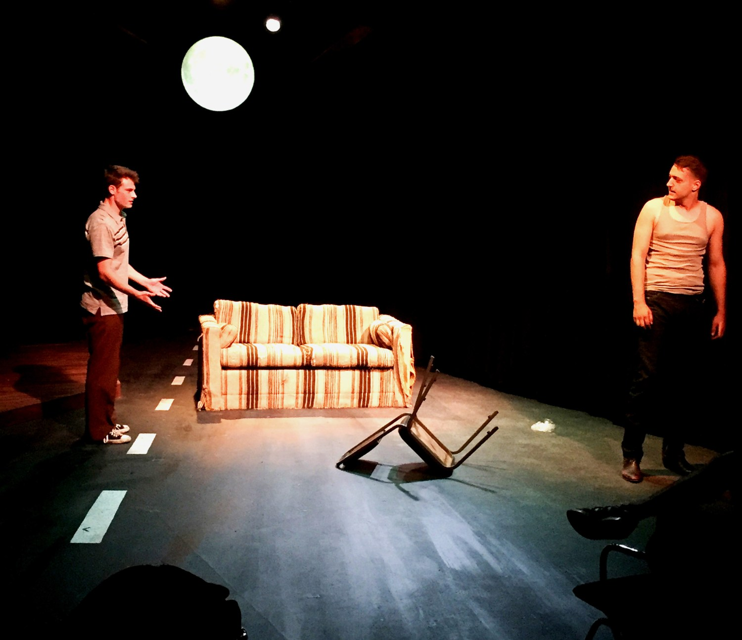 Photo courtesy of Jessica Major Production value ·  Seniors Zachary Roozen (left) and Jonathan von Mering (right) will perform in the play A Lie of the Mind. The 1985 play by Sam Shepard explores themes of love, abuse and family dysfunction.