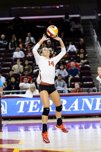Photo courtesy of Sports Information Set on the stars · Junior setter Reni Meyer-Whalley and the women's volleyball team have three matches to earn their first win of the season.