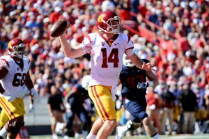 Sam Darnold threw for 235 yards and five touchdowns in Saturday's win over Arizona - Photo courtesy Sydney Richardson / The Daily Wildcat