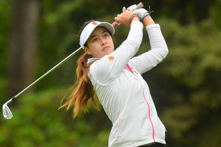 Photo courtesy of Sports Information Windy and wild · Senior Gabriella Then was the top scorer (-4) for the women's golf team at the Windy City Collegiate on Monday and Tuesday.