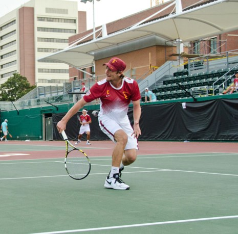 Daily Trojan file photo Friendly fire · Senior Nick Crystal (above) lost to freshman teammate Brandon Holt in the singles championship of the SoCal Intercollegiate.