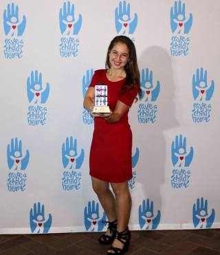 Image courtesy of Rachel Lester Heart of gold · Rachel Lester, a senior majoring in cognitive science, was awarded by the Save A Heart's Foundation on Sunday evening.