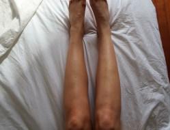A few minutes after applying self tan