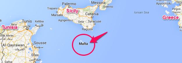 Resultado de imagem para map sicily and malta