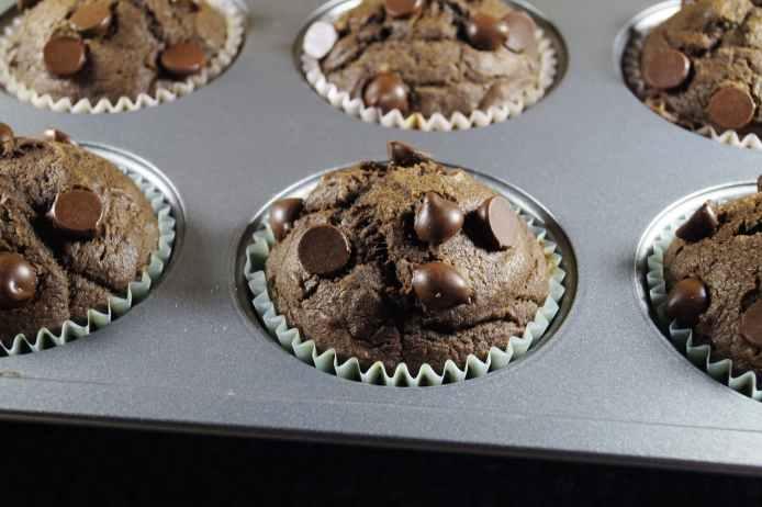 Chocolate Vegan Pumpkin Muffins
