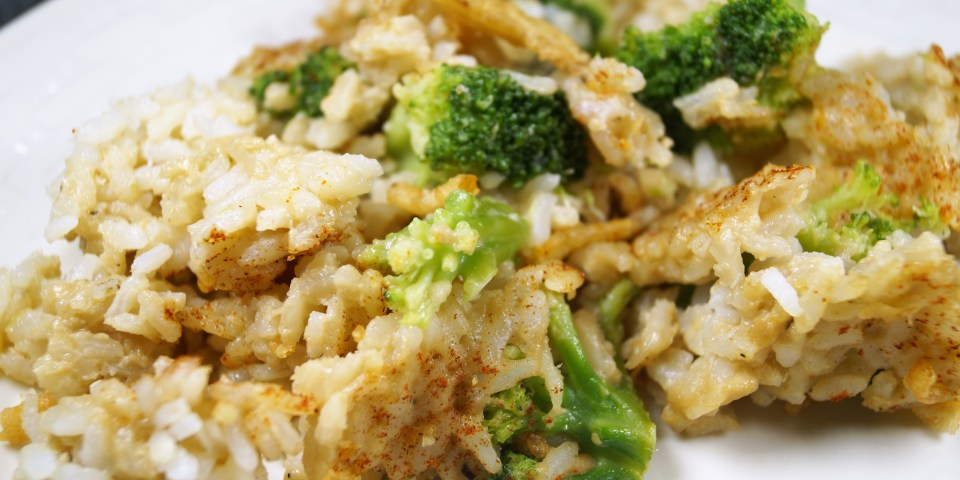 Vegan Broccoli Rice Casserole