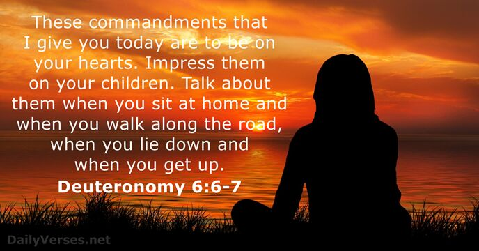 Mother And Daughter Wallpaper Quotes Deuteronomy 6 6 7 Bible Verse Of The Day Dailyverses Net