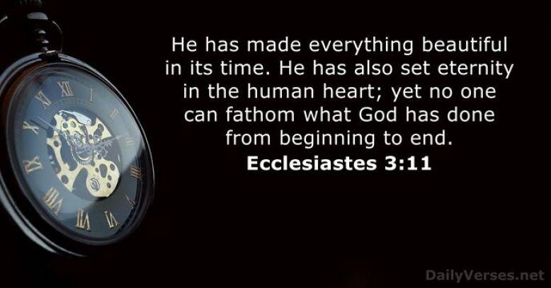 Hasil gambar untuk ecclesiastes 3:11