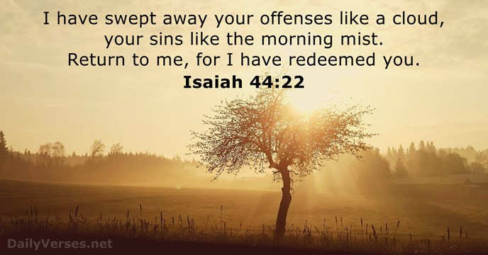 Isaiah 44 22 Bible Verse Of The Day DailyVerses Net