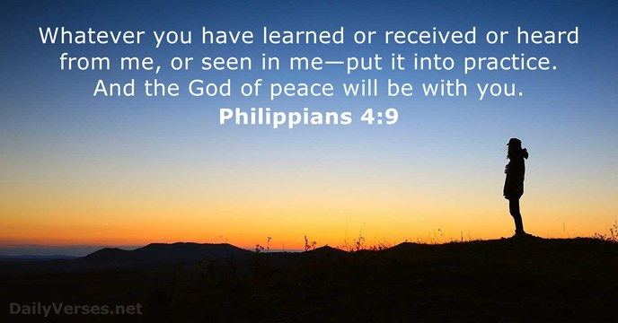 Dan And Phil Quotes Wallpaper Philippians 4 9 Bible Verse Of The Day Dailyverses Net