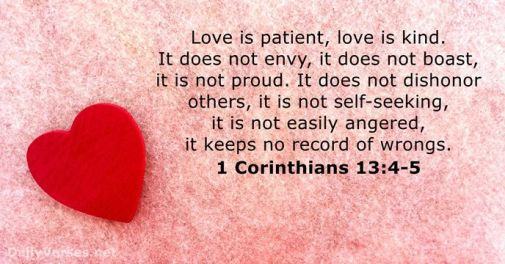Image result for love is patient bible verse
