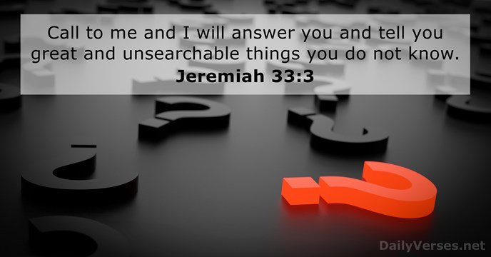 jeremiah 33 3 bible