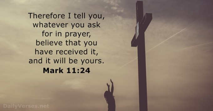 Image result for PRAY, BELIEVE, RECEIVE