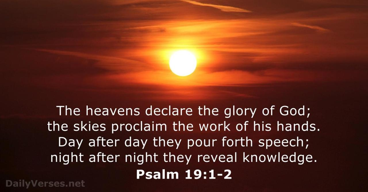 Image result for Psalm 19