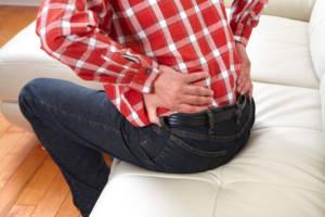 back pain, kidney stones