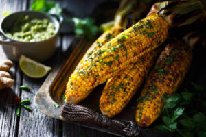 grilled corn on cob