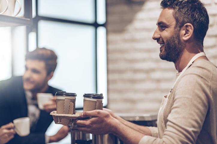 men drinking coffee