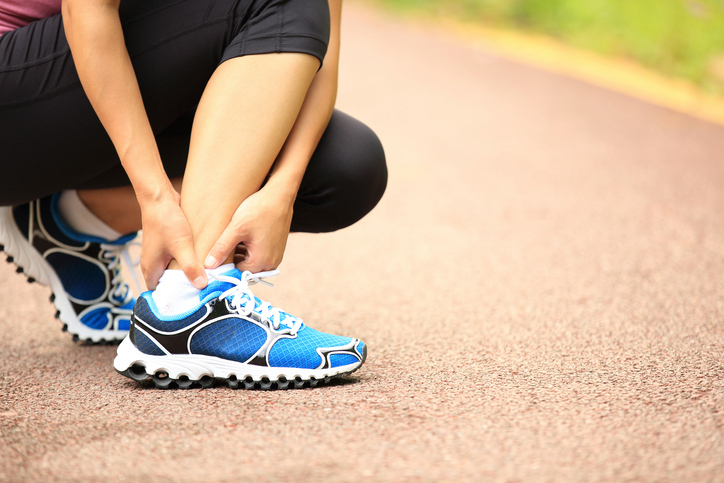 person running, injury