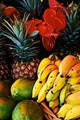 pineapples, bananas, papayas