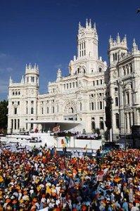 Pope Benedict XVI celebrates in Madrid, Spain