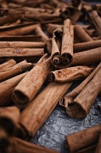Cinnamon sticks on a table