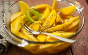 Pickled Mango Spears