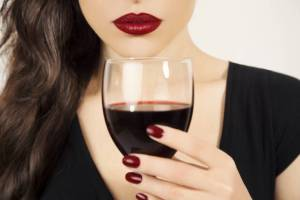 woman drinking wine, woman drinking, woman red lips