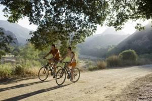 depression, two people riding bikes