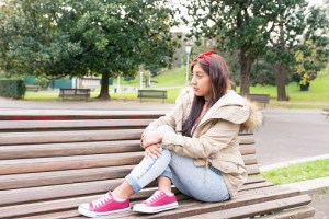 teen with depression