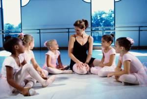 ballerinas with their teacher