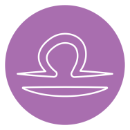 purple and white libra zodiac astrology symbol