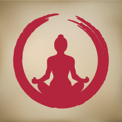 yogi crimson tan background