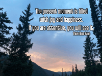 Quote - present moment mountains 1