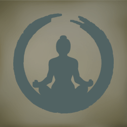 yogi blue gray background
