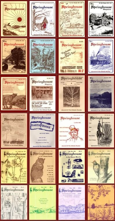 A sample of Springhouse Magazine covers throughout the years.