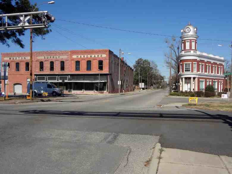 Downtown Maxton, North Carolina.