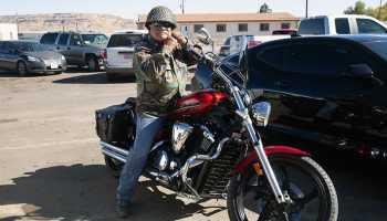 Hopi veteran Clifford Balenquah motorcycle