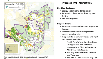 The Uncompahgre Field Office (Colorado) Proposed Resource Management Plan