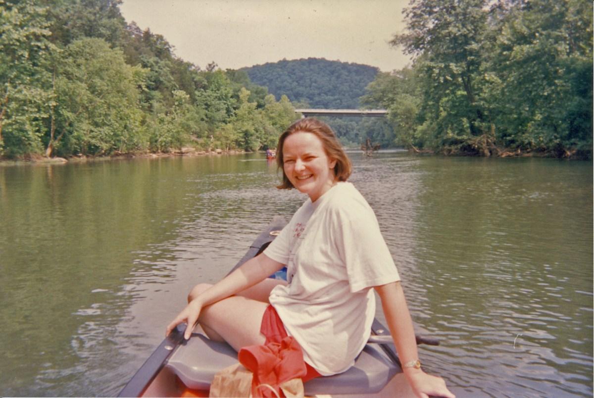 Old Photo of Lisa Pruitt on the Buffalo River