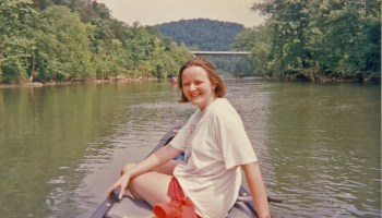 Old Photo of Lisa Pruitt on the Buffalo River