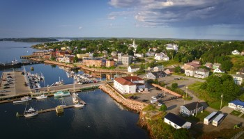 Aerial photo of Eastport Maine