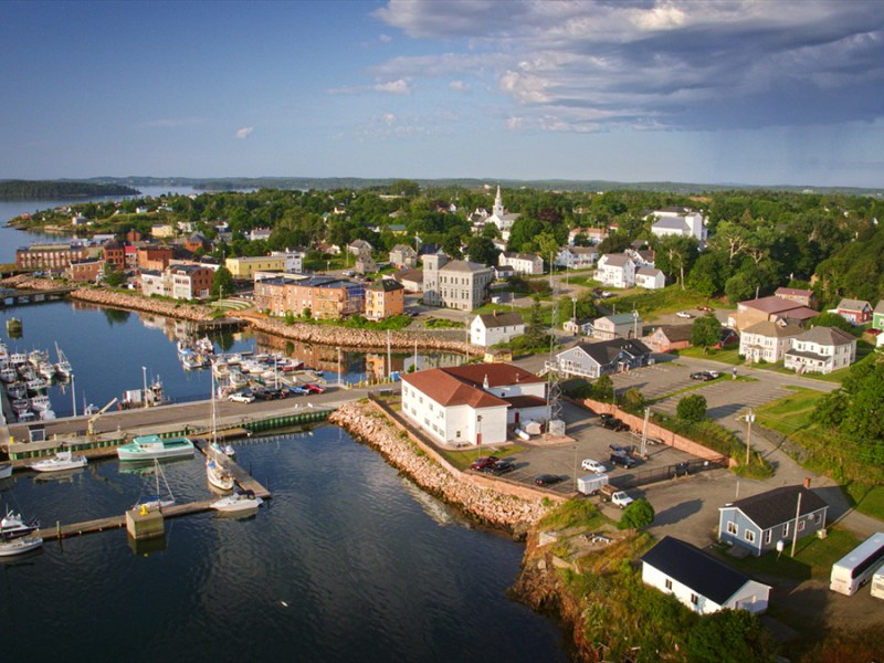 Aerial photo of Eastport Maine