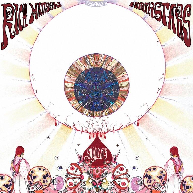 Abstract album art illustration featuring a large eyeball