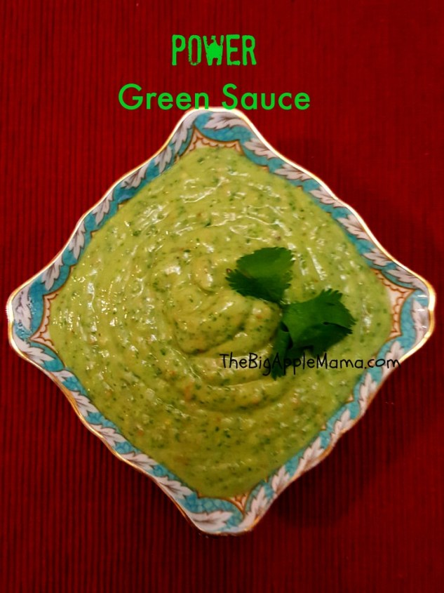 5-Minute POWER Green Sauce - use as a dip, sauce or dressing. Simple ingredients avocado, parsley, cilantro, garlic, and lime. Vegan, Gluten Free and low carb!