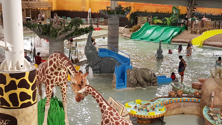 inside kalahari waterpark