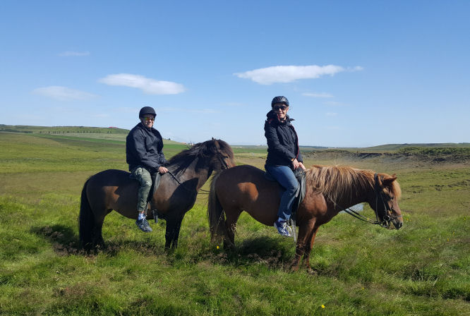 Horse riding near Hella, Iceland